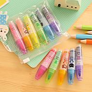 Markører & Highlightere Pen Overstregningstuscher Pen,Plastik Tønde Rød Blå Gul Lilla Orange Grøn Blæk Farver For Skoleartikler