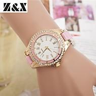 preiswerte Tolle Angebote auf Uhren-Damen Quartz Armbanduhr Imitation Diamant Legierung Band Charme Kleideruhr Modisch Schwarz Weiß Blau Rot Braun Gold Rosa