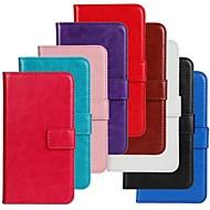 お買い得  携帯電話ケース-ケース 用途 Samsung Galaxy Samsung Galaxy ケース フリップ フルボディーケース 純色 PUレザー のために Ace 3