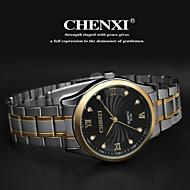 お買い得  -CHENXI® 男性用 リストウォッチ クォーツ ステンレス バンド ハンズ チャーム シルバー - ゴールド ホワイト ブラック