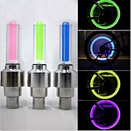 Bike Lights Wheel Lights Valve Cap Flashing Lights LED - Cycling Waterproof 50 Lumens Battery Cycling/Bike