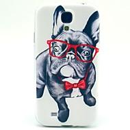 Недорогие Чехлы и кейсы для Galaxy S-Кейс для Назначение SSamsung Galaxy Кейс для  Samsung Galaxy С узором Кейс на заднюю панель С собакой ТПУ для S4 Mini