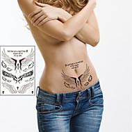 1 Tatoveringsklistermærker Andre Ikke Giftig Nederste del af ryggen VandtætBarn Dame Herre Voksen Teenager Flash tatoveringMidlertidige