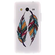 Недорогие Galaxy Core 2-Для Кейс для  Samsung Galaxy С узором Кейс для Задняя крышка Кейс для Перо TPU Samsung Core 2