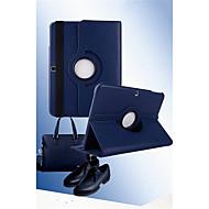 Недорогие Чехлы и кейсы для Samsung Tab-Кейс для Назначение SSamsung Galaxy Кейс для  Samsung Galaxy со стендом Флип Поворот на 360° Чехол Сплошной цвет Кожа PU для Tab 3 8.0