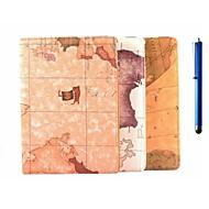 9.7 inch 360 graden rotatie kaart patroon met stand geval is met pen voor ipad lucht 2 / ipad 6 (diverse kleuren)