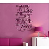 Van remény inspiráló idézettel fali matrica zooyoo8033 dekoratív diy kivehető vinyl fali matrica