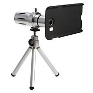 サムスンS6用三脚にセット金属スマートフォン12×ズーム望遠レンズ