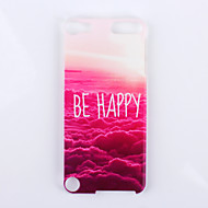 Be Happy Over The Cloud Pattern PC Hard Back Cover Case for ipod Touch 5