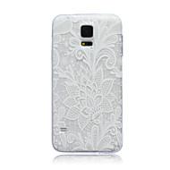 olcso Galaxy S4 tokok-Case Kompatibilitás Samsung Galaxy Samsung Galaxy tok Áttetsző Fekete tok Virág TPU mert S6 edge S6 S5 Mini S5 S4 Mini S4 S3 Mini S3