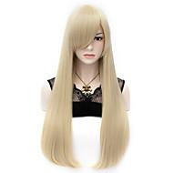 halpa Synteettiset peruukit-Naisten Synteettiset peruukit Koneella valmistettu Hyvin pitkä Suora Vaaleahiuksisuus Halloween Peruukki Carnival Peruukki puku Peruukit