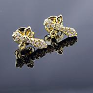 Sitne naušnice Zircon Pozlaćeni Cross Shape Jewelry Za Vjenčanje Party Dnevno Kauzalni Sport 2pcs