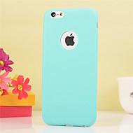Недорогие Кейсы для iPhone 8-Кейс для Назначение Apple iPhone X iPhone 8 iPhone 6 Plus Защита от удара Кейс на заднюю панель Сплошной цвет Мягкий ТПУ для iPhone X