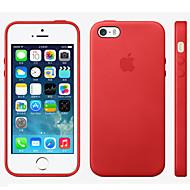 Недорогие Кейсы для iPhone 8 Plus-Кейс для Назначение iPhone 5 Apple iPhone 8 iPhone 8 Plus Кейс для iPhone 5 Other Кейс на заднюю панель Сплошной цвет Твердый Настоящая