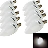 お買い得  LED キャンドルライト-E14 LEDキャンドルライト 10 LEDの SMD 2835 装飾用 温白色 クールホワイト 200lm 3000/6000K 交流220から240V