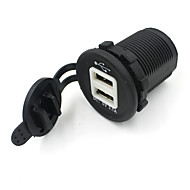 billige Bil Ladere-Dual USB Car Socket 12V Billader Strømadapter