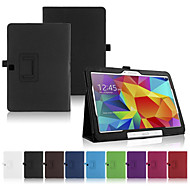 Para Samsung Galaxy Capinhas Com Suporte / Flip Capinha Corpo Inteiro Capinha Cor Única Couro PU SamsungTab 4 10.1 / Tab Pro 10.1 / Tab A