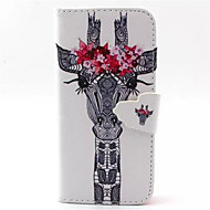 Voor iPhone 8 iPhone 8 Plus iPhone 5 hoesje Hoesje cover Portemonnee met standaard Flip Volledige behuizing hoesje dier Hard PU-leer voor
