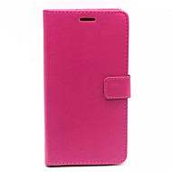 voordelige Galaxy Core 2-Voor Samsung Galaxy hoesje Portemonnee / Kaarthouder / met standaard / Flip hoesje Volledige behuizing hoesje Effen kleur PU-leer Samsung