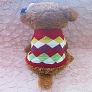 Hunde - Winter - Fasergemisch Rot - Pullover - XS / S / M