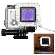 halpa Urheilukamerat ja Tarvikkeet GoProlle-Suojakotelo Spot Light LED LED varten Toimintakamera Gopro 6 Gopro 5 Gopro 4 Silver Gopro 4 Gopro 4 Black Gopro 3 Gopro 3+ Gopro 3/2/1