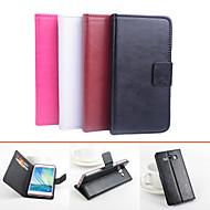 billige -Etui Til Samsung Galaxy Samsung Galaxy Etui Kortholder med stativ Flipp Magnetisk Heldekkende etui Helfarge PU Leather til A5