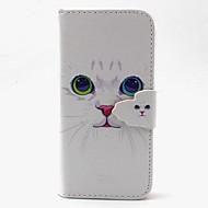 Недорогие Чехлы и кейсы для Samsung-Кейс для Назначение SSamsung Galaxy Кейс для  Samsung Galaxy Кошелек / Бумажник для карт / со стендом Чехол Кот Кожа PU для S6 edge / S6 / S5 Mini