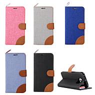Недорогие Чехлы и кейсы для Galaxy S-Кейс для Назначение SSamsung Galaxy Кейс для  Samsung Galaxy Бумажник для карт Кошелек со стендом Флип Чехол Сплошной цвет Кожа PU для S6