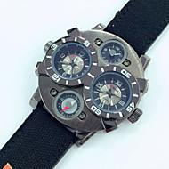 お買い得  -JUBAOLI 男性用 軍用腕時計 クォーツ カレンダー レザー バンド ハンズ ブラック / レッド / ブラウン - Brown ワイン ダークグリーン