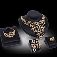 preiswerte -Damen Schmuckset Niedlich Party Armreif Modisch Party Besondere Anlässe Geburtstag Kubikzirkonia vergoldet Aleación Armband Halskette