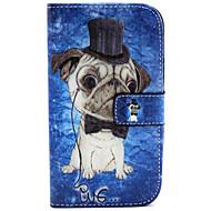 お買い得  Samsung 用 ケース/カバー-SHI CHENG DA ケース 用途 Samsung Galaxy Samsung Galaxy ケース ウォレット / カードホルダー / スタンド付き フルボディーケース 犬 PUレザー のために Grand Neo / Core Plus / Alpha