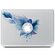 μπλε λουλούδι διακοσμητικό αυτοκόλλητο δέρμα για MacBook Air / Pro / Pro με οθόνη Retina