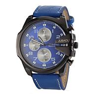 Недорогие Фирменные часы-JUBAOLI Муж. Кварцевый Наручные часы Армейские часы Повседневные часы Кожа Группа Кулоны Черный Белый Синий Красный