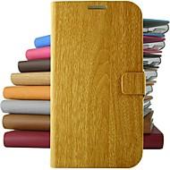 vintage fa mintás műbőr teljes test esetében állvánnyal Samsung Galaxy S5 / S4 / S3 / s4mini (vegyes színek)