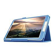 Недорогие Чехлы и кейсы для Galaxy Tab E 9.6-Кейс для Назначение SSamsung Galaxy Кейс для  Samsung Galaxy со стендом / Флип Чехол Однотонный Кожа PU для Tab E 9.6