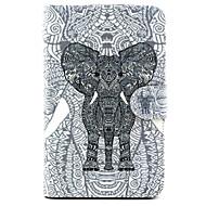 billige Etuier / covers til Samsung Tab-modellerne-For Samsung Galaxy etui Kortholder / Med stativ / Flip / Mønster Etui Heldækkende Etui Elefant Kunstlæder SamsungTab 4 10.1 / Tab 4 7.0 /