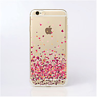 Funda Para iPhone 5 / Apple Funda iPhone 5 Transparente / Diseños Funda Trasera Corazón Suave TPU para iPhone SE / 5s / iPhone 5