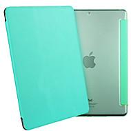 esr yippee kleur serie lichtgewicht tri-voudige beschermende pu lederen case voor de iPad mini 3/2 / 1-mintgroen