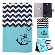 Для Кейс для  Samsung Galaxy Чехлы панели Бумажник для карт со стендом Флип С узором Чехол Кейс для Полосы / волосы Искусственная кожа для