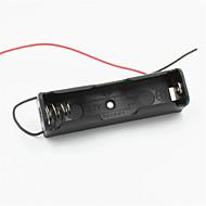 povoljno -DIY 1 Utor nositelj w / 2 vodi 18.650 baterija - crna