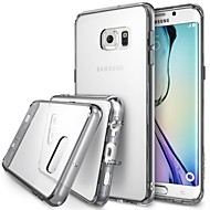 Para Funda Samsung Galaxy Transparente Funda Cubierta Trasera Funda Un Color TPU Samsung S6 edge plus