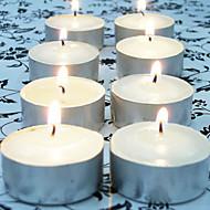 abordables Home Fragrances-100pcs velas blancas TEALIGHT la decoración del hogar de la boda