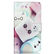 olcso Galaxy J1 tokok-Mert Samsung Galaxy tok Kártyatartó / Pénztárca / Állvánnyal / Flip Case Teljes védelem Case Rajzfilmfigura Műbőr Samsung J1