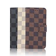 Кейс для Назначение Apple iPhone 6 iPhone 6 Plus Бумажник для карт Кошелек со стендом Флип С узором Чехол Геометрический рисунок Твердый