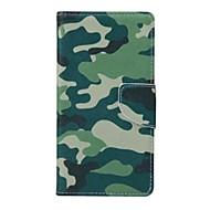 billige Mobilcovers-For Huawei etui P9 Lite P8 Lite Pung Kortholder Med stativ Etui Heldækkende Etui Camouflage Hårdt Kunstlæder for HuaweiHuawei P9 Lite