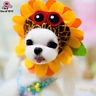Коты / Собаки Костюмы / Банданы и шляпы Желтый Одежда для собак Лето / Весна/осень Цветы Косплей / Праздник