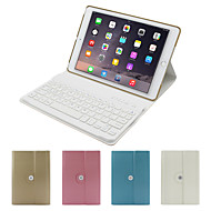 For Case Cover with Stand with Keyboard Flip 360° Rotation Full Body Case Solid Color Hard PU Leather for iPad Air