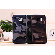 For Samsung Galaxy etui Mønster Etui Bagcover Etui Camouflage PC for Samsung S6 edge S6 S5