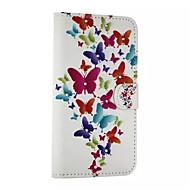 Для Кейс для  Samsung Galaxy Бумажник для карт / Стразы / со стендом / Флип / С узором / Магнитный Кейс для Чехол Кейс для Бабочка