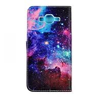 Для Кейс для  Samsung Galaxy Бумажник для карт / Кошелек / со стендом / Флип Кейс для Чехол Кейс для Пейзаж Искусственная кожа SamsungJ7